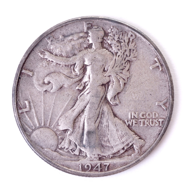 Moneta d'argento degli Stati Uniti fotografia stock