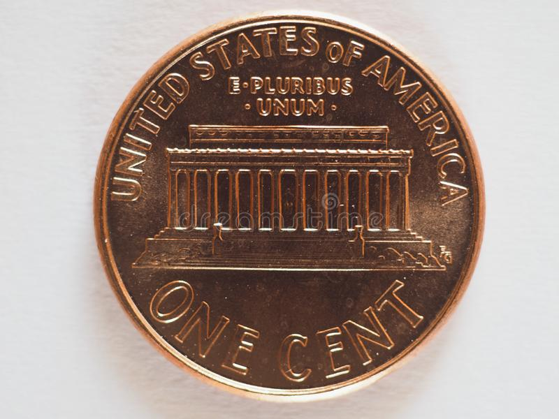 1 moneta del centesimo, Stati Uniti fotografia stock libera da diritti
