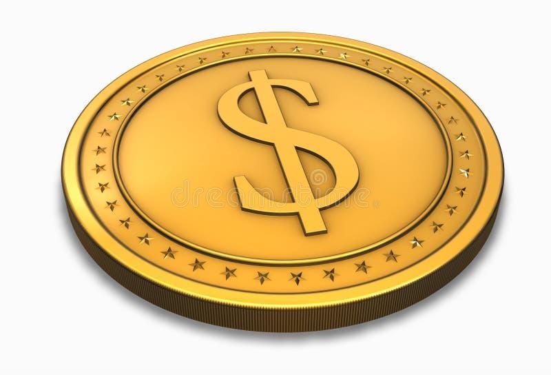 Moneta del dollaro illustrazione di stock
