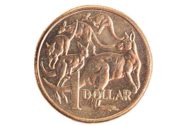 Moneta del dollaro dell'Australia fotografia stock libera da diritti