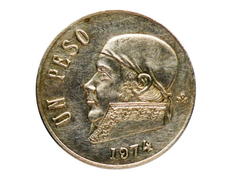 1 moneta del peso, la Banca del Messico Complemento, edizione del 1970 fotografia stock