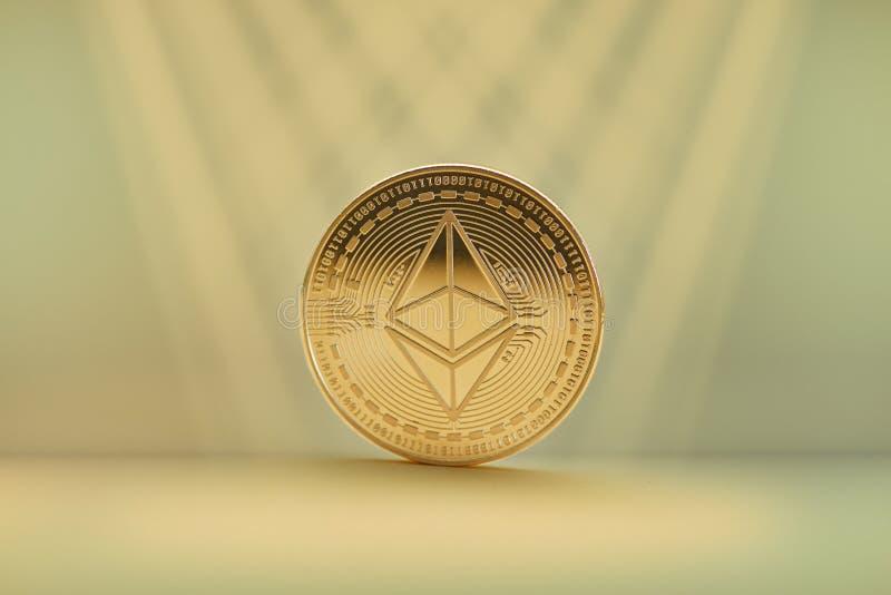Moneta dell'etere come concetto di cryptocurrency fotografia stock