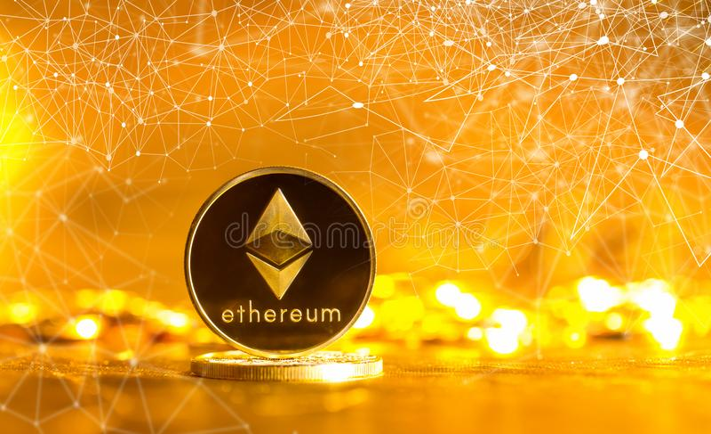 Moneta dell'etere di Ethereum immagine stock libera da diritti