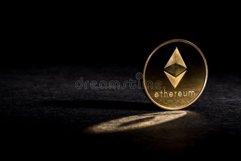 Moneta dell'etere di Ethereum fotografie stock