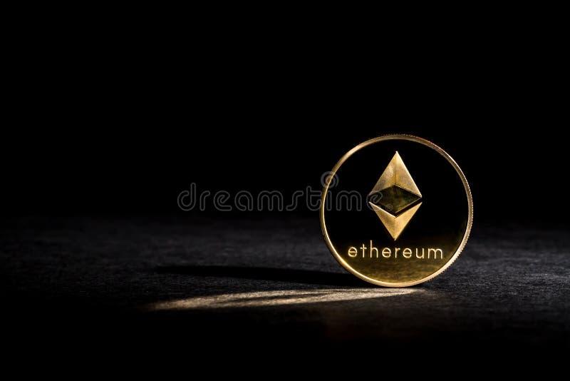 Moneta dell'etere di Ethereum fotografie stock libere da diritti