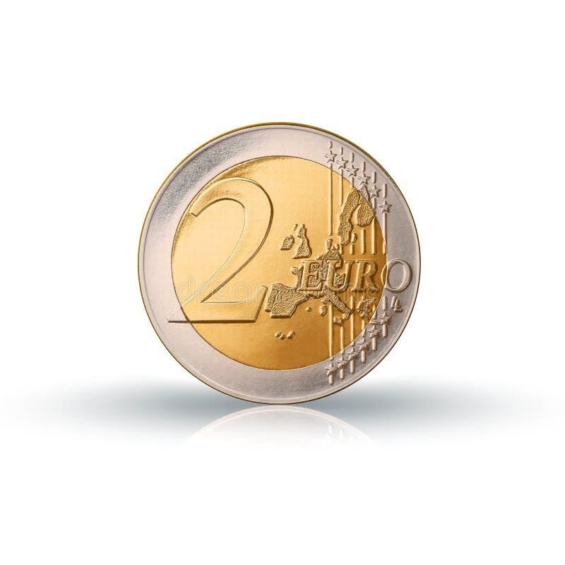 Moneta dell'euro dell'argento due illustrazione di stock