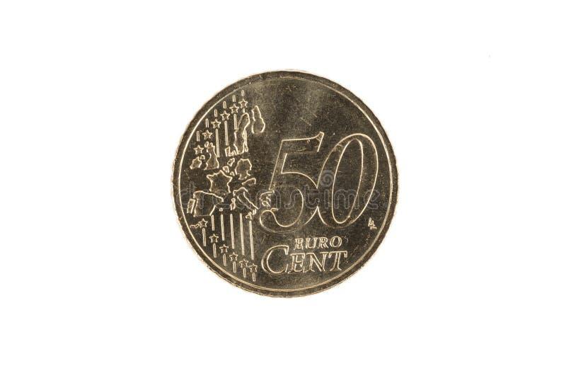 Moneta dell'euro centesimo 50 immagine stock