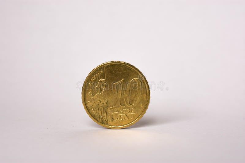 Moneta dell'euro centesimo 10 fotografia stock