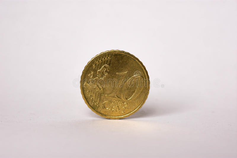 Moneta dell'euro centesimo 10 immagine stock
