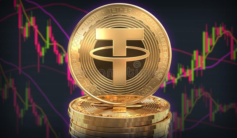 Moneta della cavezza davanti allo scambio di commercio illustrazione di stock