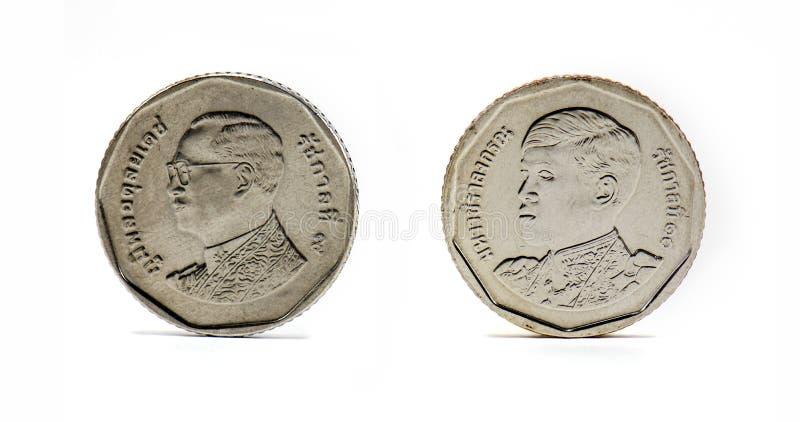 Moneta della Tailandia, baht cinque immagine stock libera da diritti