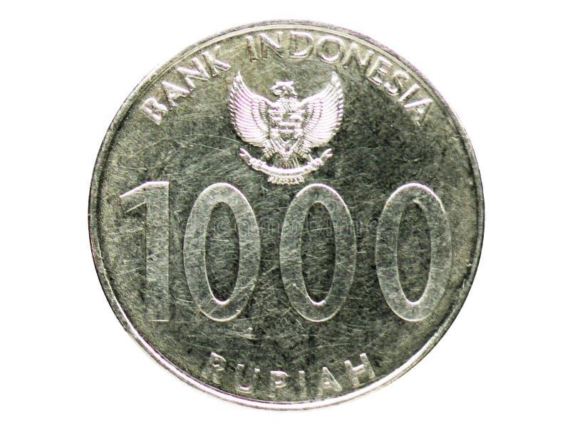 Moneta di Angklung di 1000 rupie, la Banca dell'Indonesia Complemento, edizione del 2010 immagine stock libera da diritti