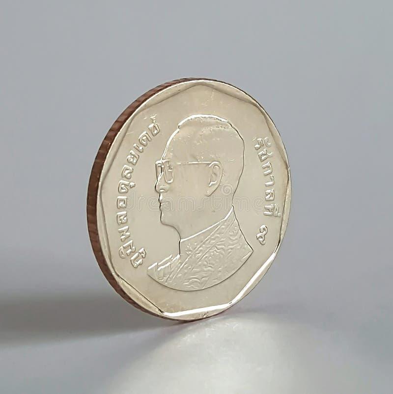 moneta di baht tailandese 5 immagine stock