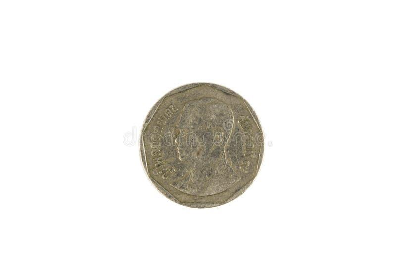 Moneta di baht tailandese cinque immagine stock