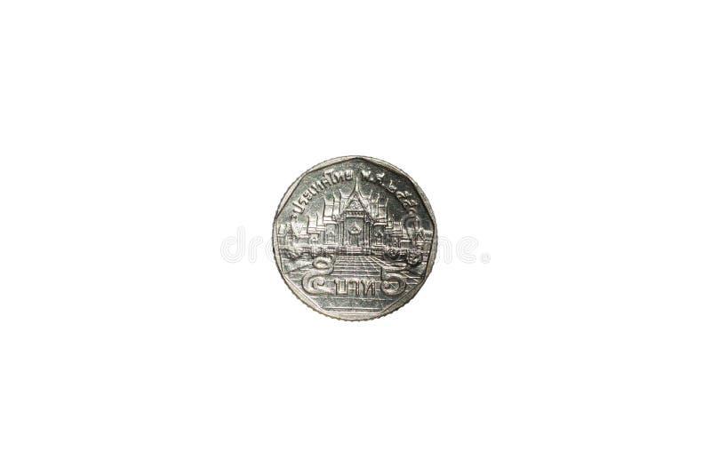 Moneta di baht tailandese cinque isolata immagine stock libera da diritti