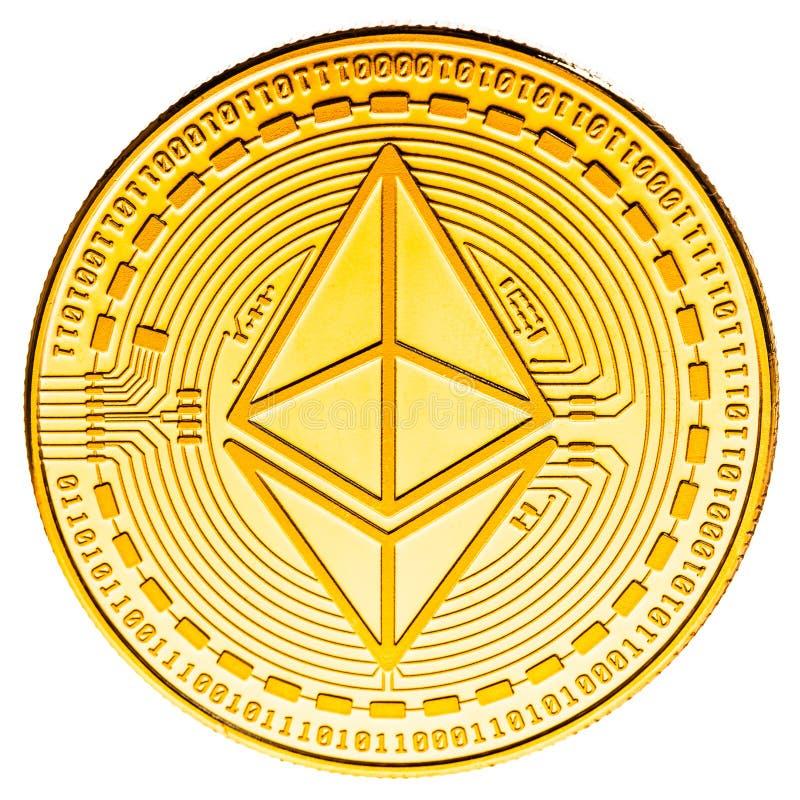 Moneta di Ethereum isolata immagine stock libera da diritti