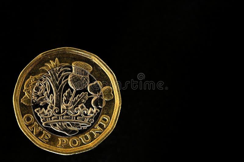 Moneta di libbra di nuovo immagini stock libere da diritti
