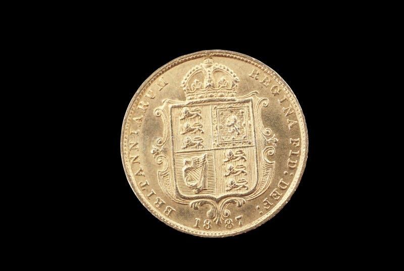 Moneta di oro antica britannica fotografie stock