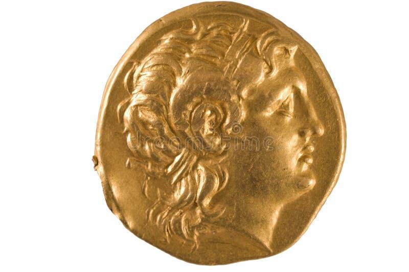 Moneta di oro della Grecia antica. fotografia stock libera da diritti