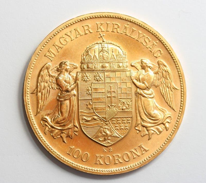 Moneta di oro ungherese fotografie stock libere da diritti
