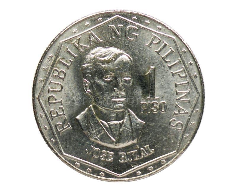 1 moneta di Piso ISANG BANSA ISANG DIWA, la Banca di Filippine Complemento, edizione 1979 immagine stock