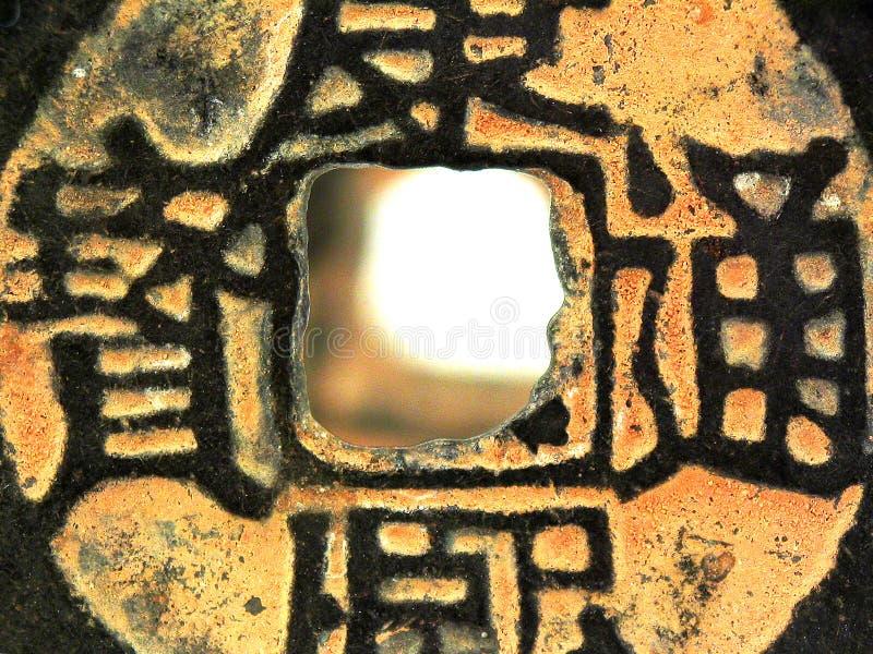 Moneta di Qing Dinasty immagini stock