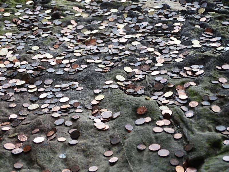 Moneta dla życzenia obrazy stock