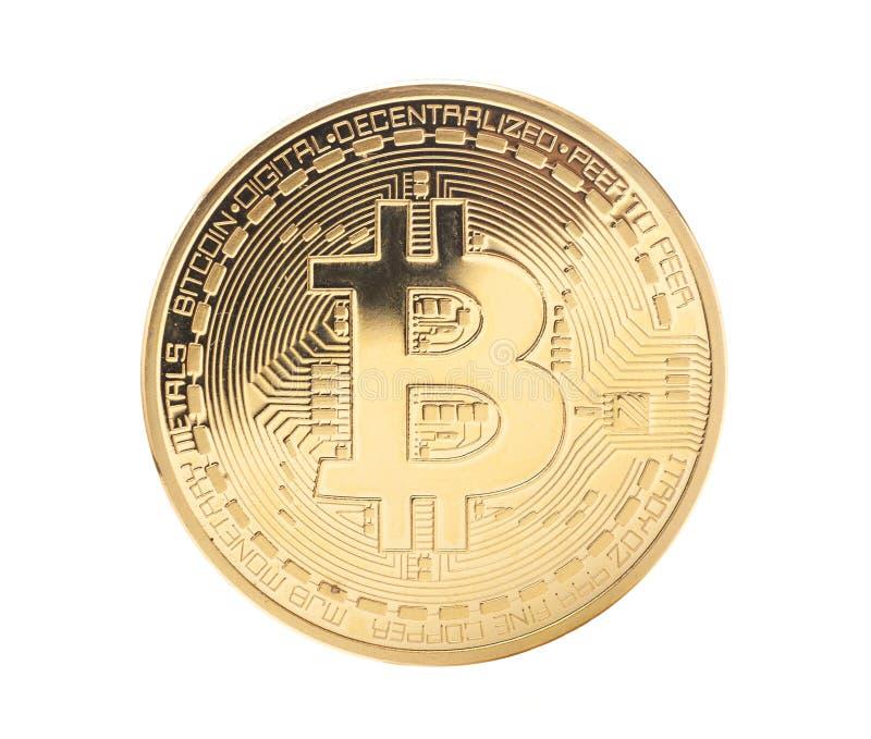 Moneta dorata di Bitcoin immagine stock libera da diritti