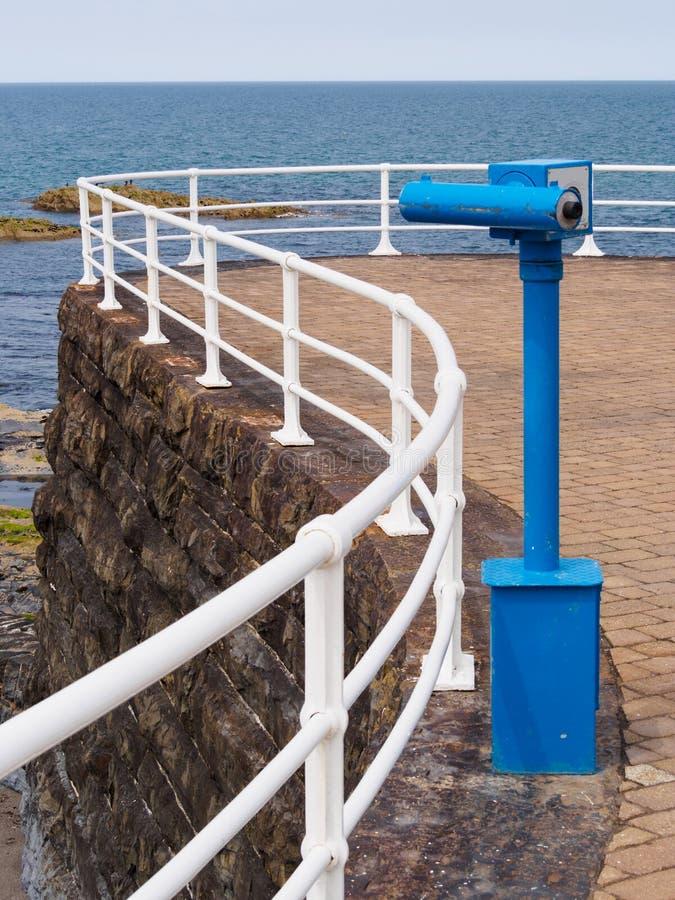 Moneta Działający teleskop przy Aberystwyth fotografia royalty free