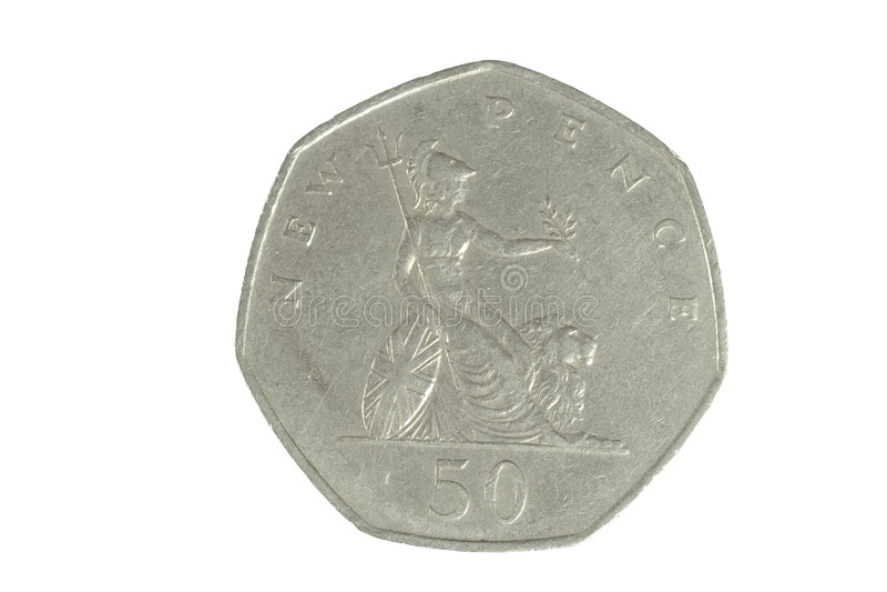 Moneta inglese 1 fotografia stock libera da diritti