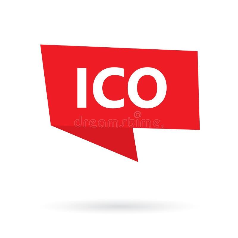 Moneta iniziale di ICO che offre sul fumetto royalty illustrazione gratis