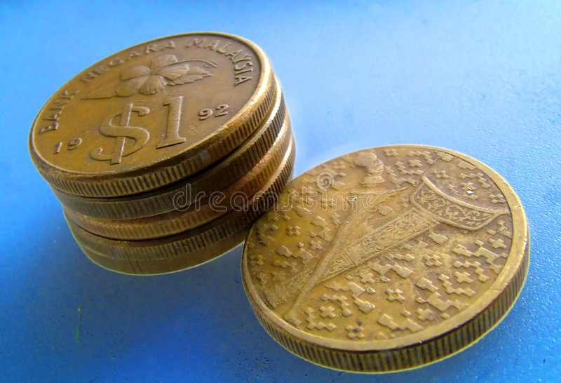 Moneta malese immagini stock libere da diritti