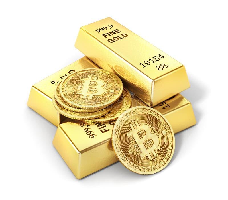 Moneta odizolowywająca na bielu bitcoin kolonel ilustracji