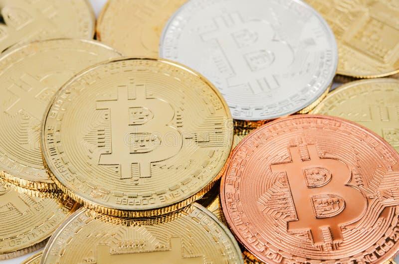 Moneta pungente Digital di Bitcoin Cryptocurrency fotografie stock libere da diritti