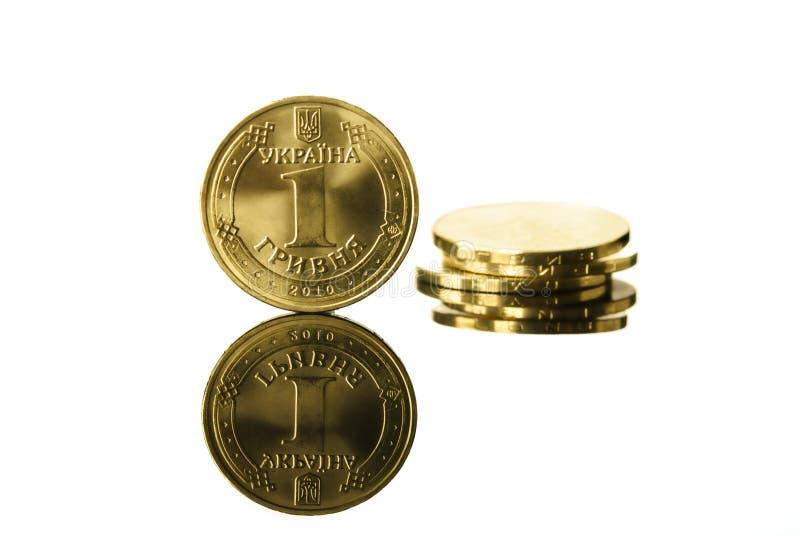 Moneta reale ucraina Hryvna fotografie stock libere da diritti