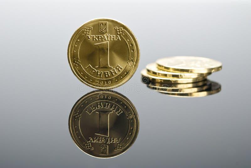 Moneta reale ucraina Hryvna fotografia stock