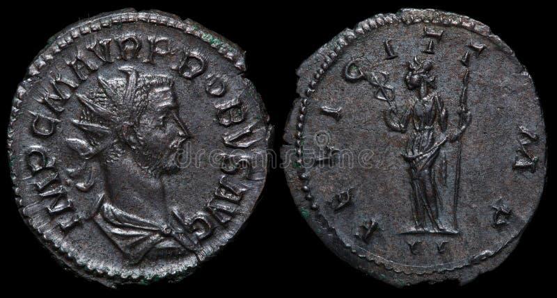 Moneta romana antica. fotografia stock