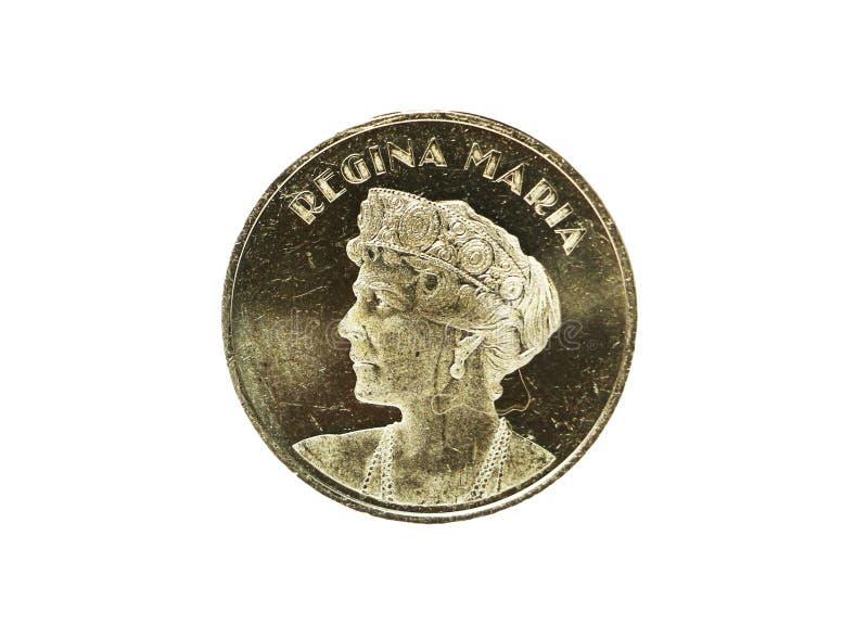 Moneta romena Regina Marie Limited 50 bani - Regina Maria fotografia stock libera da diritti