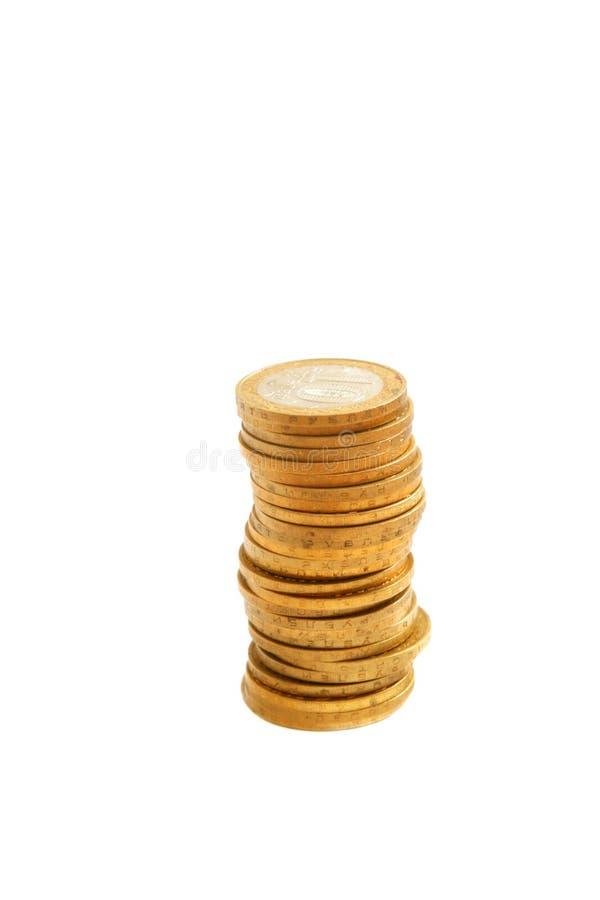moneta stos obrazy stock