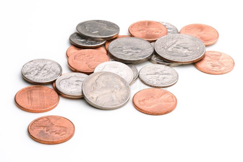 moneta stos obraz stock
