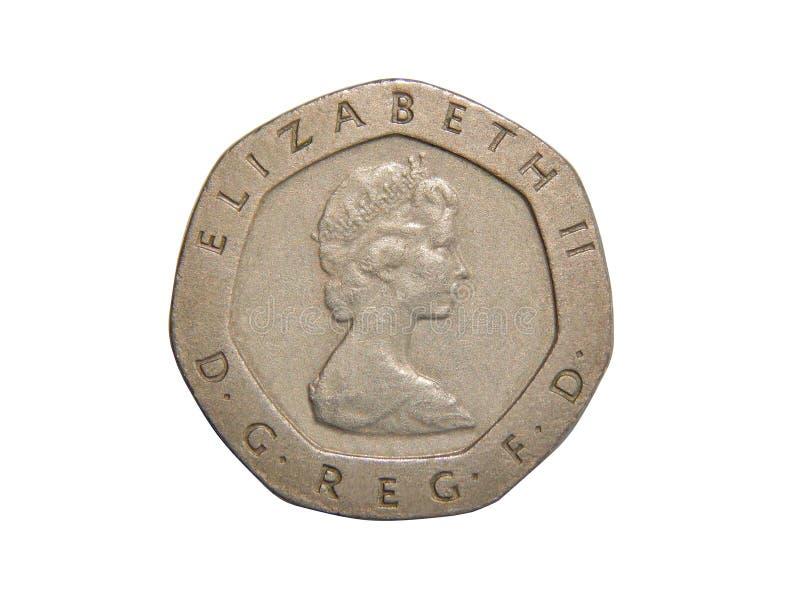 Moneta Wielki Brytania 20 pens obrazy royalty free