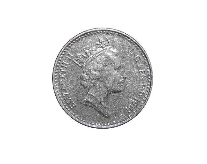 Moneta Wielki Brytania 5 pens fotografia royalty free