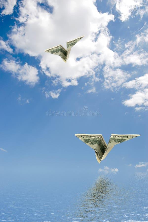 Monetair vliegtuig. royalty-vrije stock foto's