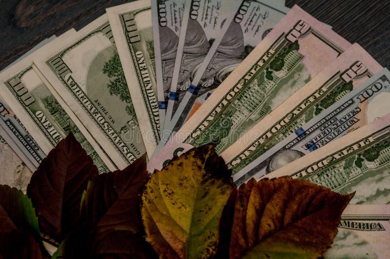 Monetaire fondsen, financiën, dollars - als bedrijfsconcept stock afbeeldingen