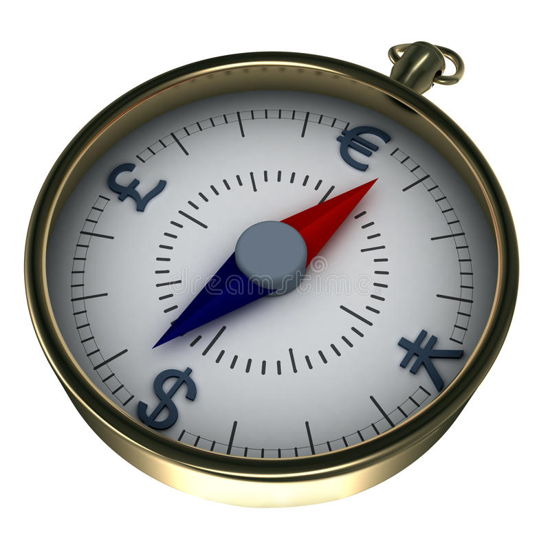Monetary compass stock illustration