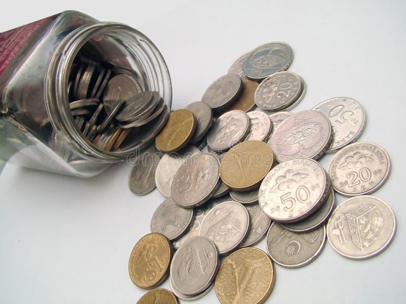 Download Monete fotografia stock. Immagine di bottiglia, ricco, argento - 218806