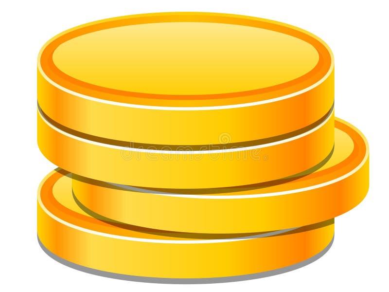 monete illustrazione vettoriale