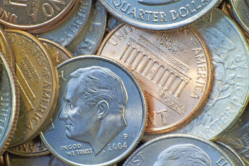 Monete americane immagine stock libera da diritti