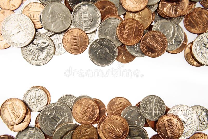 Monete americane immagini stock
