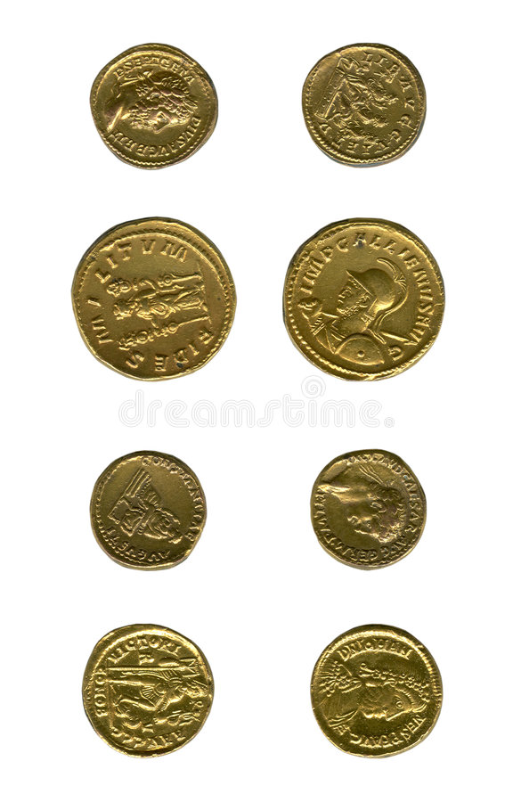 Monete antiche immagini stock libere da diritti